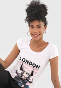 Blusa Fiveblu London Branca - Branco - Feminino - Algodã£O - Dafiti
