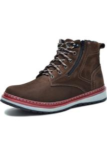 Bota Worker Over Boots Couro Marrom Urban