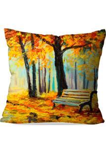 Capa De Almofada Avulsa Decorativa Pintura Outono 35X35Cm