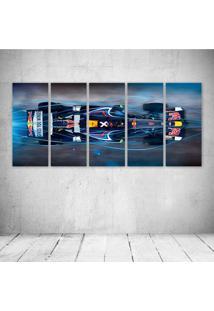 Quadro Decorativo - Formula 1 Red Bull Rb4 Race Car (2) - Composto De 5 Quadros