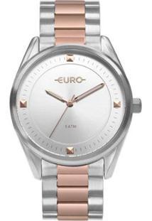 Relógio Euro Minimal Shine Bicolor Feminino - Feminino-Preto+Bronze