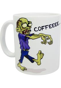 Caneca Zombie Wants Coffee Geek10 Branco