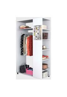 Closet Moove C/ Espelho E Prateleiras Branco Appunto