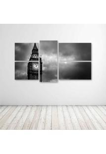 Quadro Decorativo - London Pb - Composto De 5 Quadros - Multicolorido - Dafiti