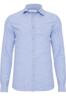 Camisa Masculina Saudade - Azul