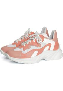 Tênis Not-Me Dad Sneakers Coral Neon Color