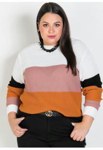Tricot Plus Size Coloridoponto Fechado