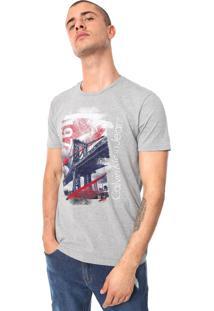 Camiseta Calvin Klein Jeans 1978 Bridge Cinza