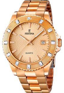 R  590,00. Vivara Relógio Feminino Dourado Aço F16787 2 Festina - 9f48341ae9
