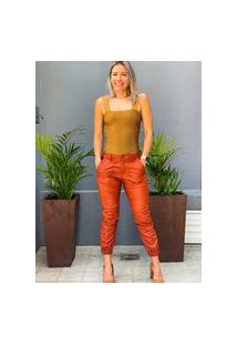 Body Animale Jeans Dourado