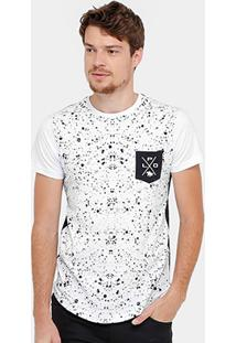 Camiseta Rg 518 Respingos Bolso Masculina - Masculino
