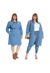 Vestido Mink Chemise Plus Size Jeans