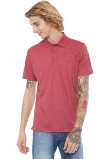 Camisa Polo Quiksilver Reta Heather Vermelha
