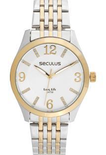 Relógio Seculus 20413Lpsvba2 Prata/Dourado