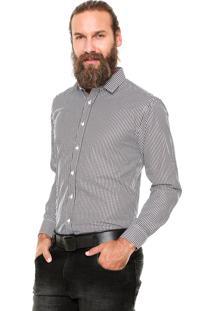 Camisa Vivacci Quadriculada Marrom/Branca