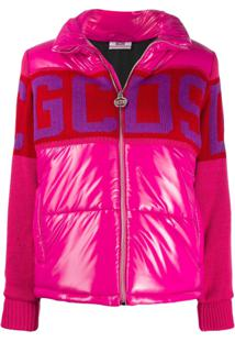 Gcds Knitted Panel Puffer Jacket - Rosa
