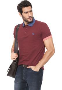 Camisa Polo Mr Kitsch Logo Bordô
