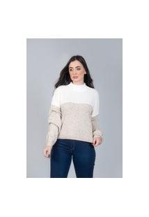 Blusa Charme Tricot Ampla Off White