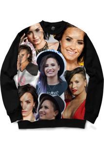 Blusa Bsc Demi Lovato Full Print - Masculino-Preto