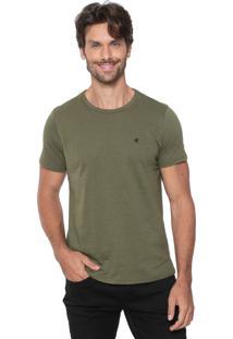 Camiseta Malwee Slim Botonê Verde