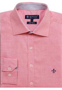 Camisa Dudalina Fit Oxford Leve Masculina (Vermelho Claro, 3)