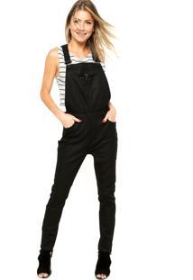 Macacão Jeans Calvin Klein Jeans Resinado Preto