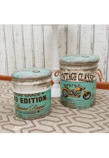 Puff Organizador Vintage Classic Verde