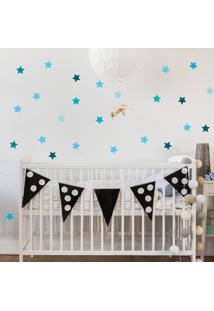 Adesivo De Parede Quartinhos Infantil Estrelas Azul - Azul - Dafiti