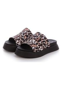 Sandália Birken Tratorada Damannu Shoes Giulia Animal Print Onça