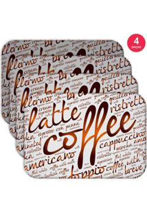 Jogo Americano Love Decor Wevans Latte Coffee Kit Com 4 Pçs