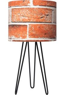 Abajur Carambola Tijolos Brick Terracota