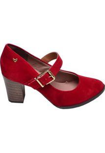 Sapato Feminino Salto Médio Mississipi Vermelho
