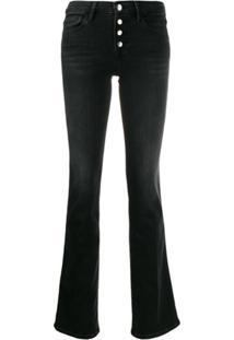 Frame Calça Jeans Bootcut 'Lemini Exposed Charlie' - Cinza