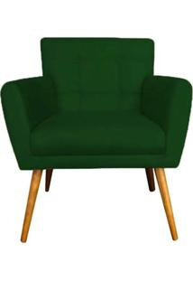 Poltrona Decorativa Onix Suede Verde - Ds Móveis