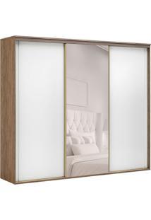 Guarda-Roupa Casal Com Espelho Inovatto L 3 Pt 6 Gv Ébano