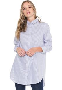cc84c93ce4 ... Camisa Dudalina Listrada Branco Azul
