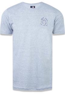 Camiseta New Era Basico New York Yankees Mescla Cinza