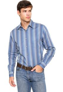 Camisa Perry Ellis Clássic Listras