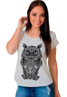 Camiseta Shop225 Coruja Tattoo Branco