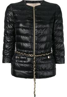 Herno 3/4 Sleeves Padded Jacket - Preto