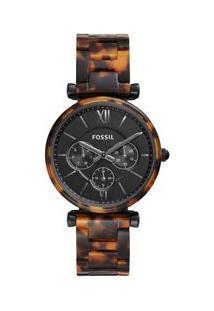 Relógio Fossil Feminino Carlie Preto Es4659/1Pn Es4659/1Pn