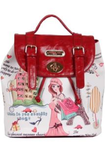 Bolsa Nicole Lee Shopping Girl Backpack Bege