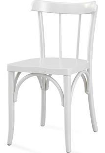 Cadeira Para Cozinha Com Assento Ergonômico - Laca Branca - Justine - 43X47,5X78,5 Cm