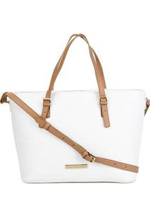 Bolsa Loucos & Santos Shopper Bicolor Feminina - Feminino-Branco