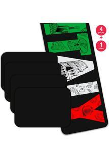 Jogo Americano Love Decor Com Caminho De Mesa Italy Kit Com 4 Pçs 1 Trilho