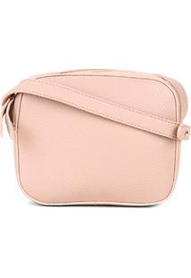 Bolsa Shoestock Mini Bag Crossbody Feminina - Feminino-Nude