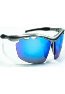 Óculos De Sol Jf Sun Ósmio-Prata-Azul Espelhado - Kanui