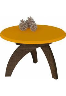 Mesa De Centro Jade Canela / Amarelo