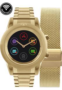Relógio Technos Smartwatch Dourado Redondo - P01Ac/4P