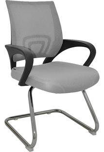Cadeira De Escritório Base Fixa Santiago-Rivatti - Cinza